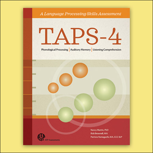 Test Of Auditory Processing Skills Fourth Edition Taps 4